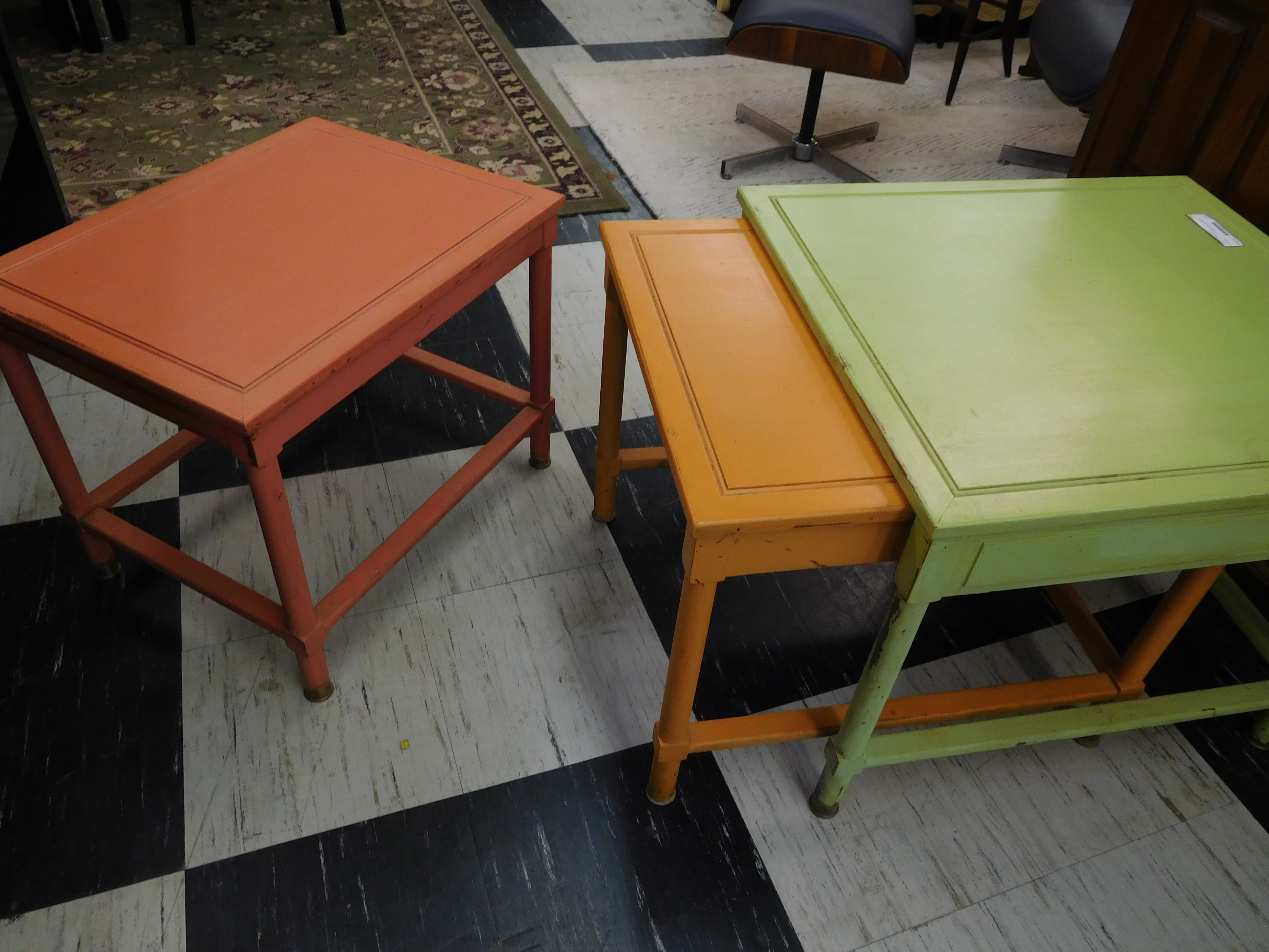 Mid Century Drexel Heritage Colorful Nesting Tables (Circa 1957)
