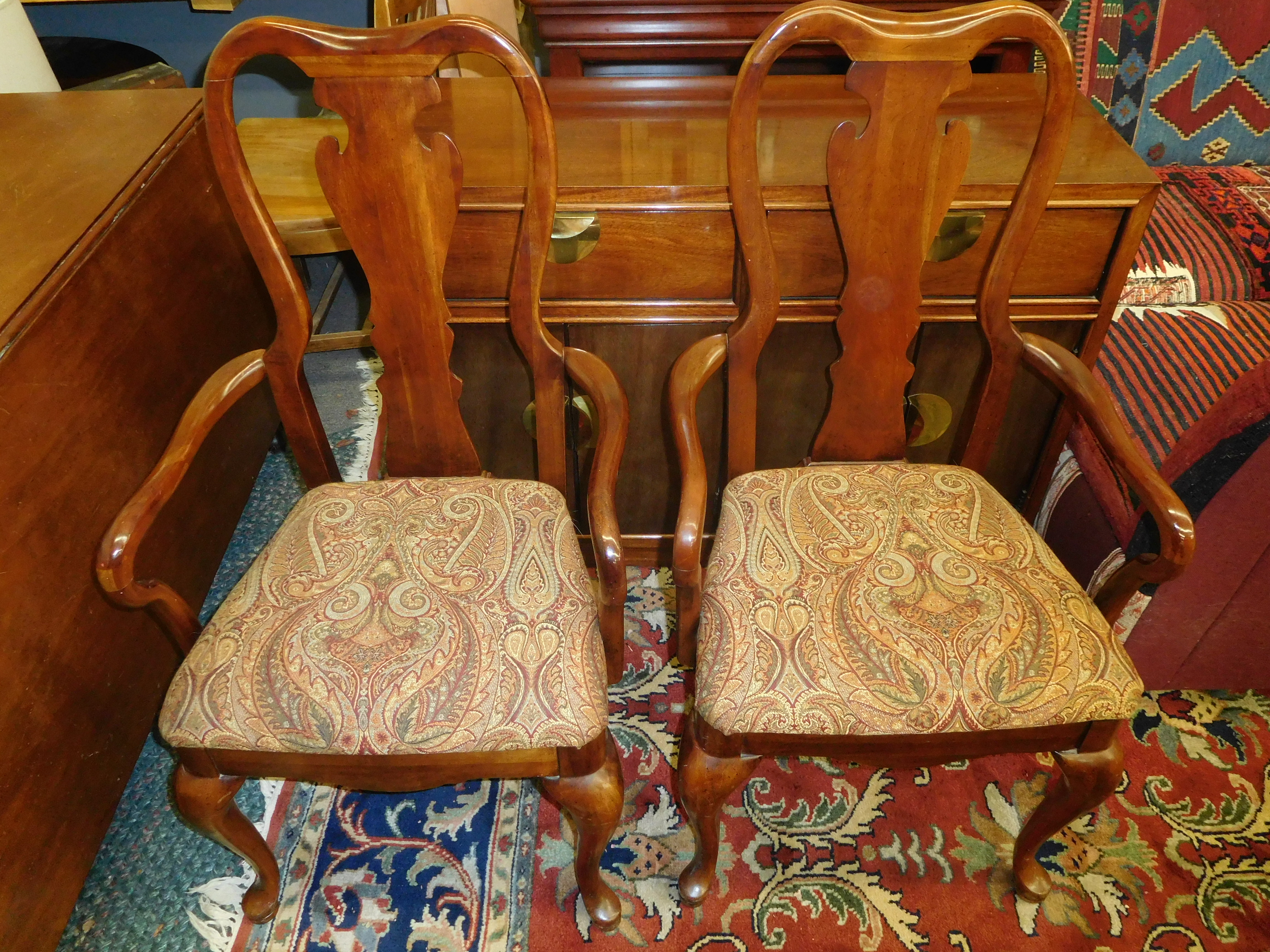 Cherry Queen Anne Dining Chair by Thomasville
