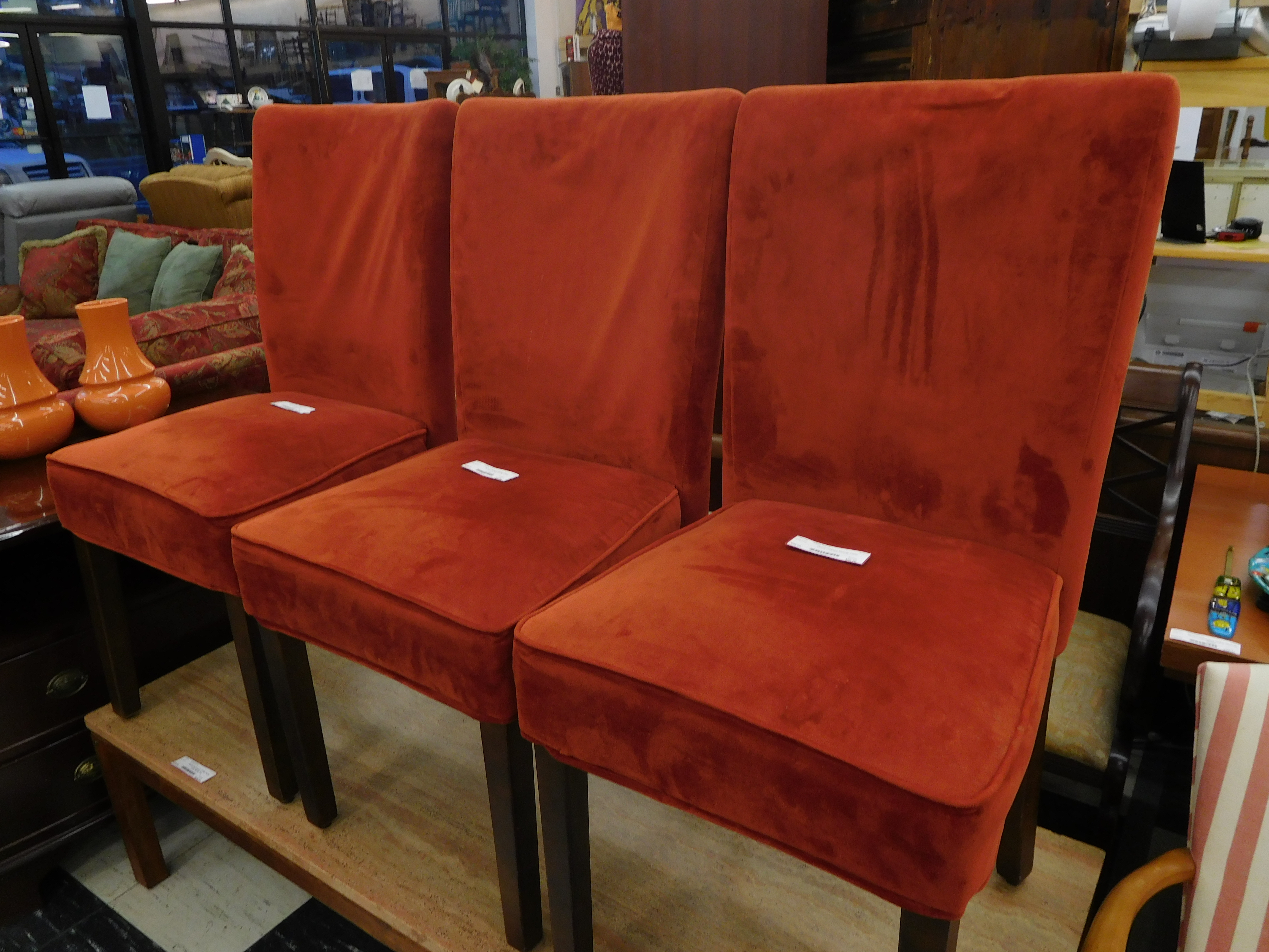 Canyon Red Upholstered Parsons Chair