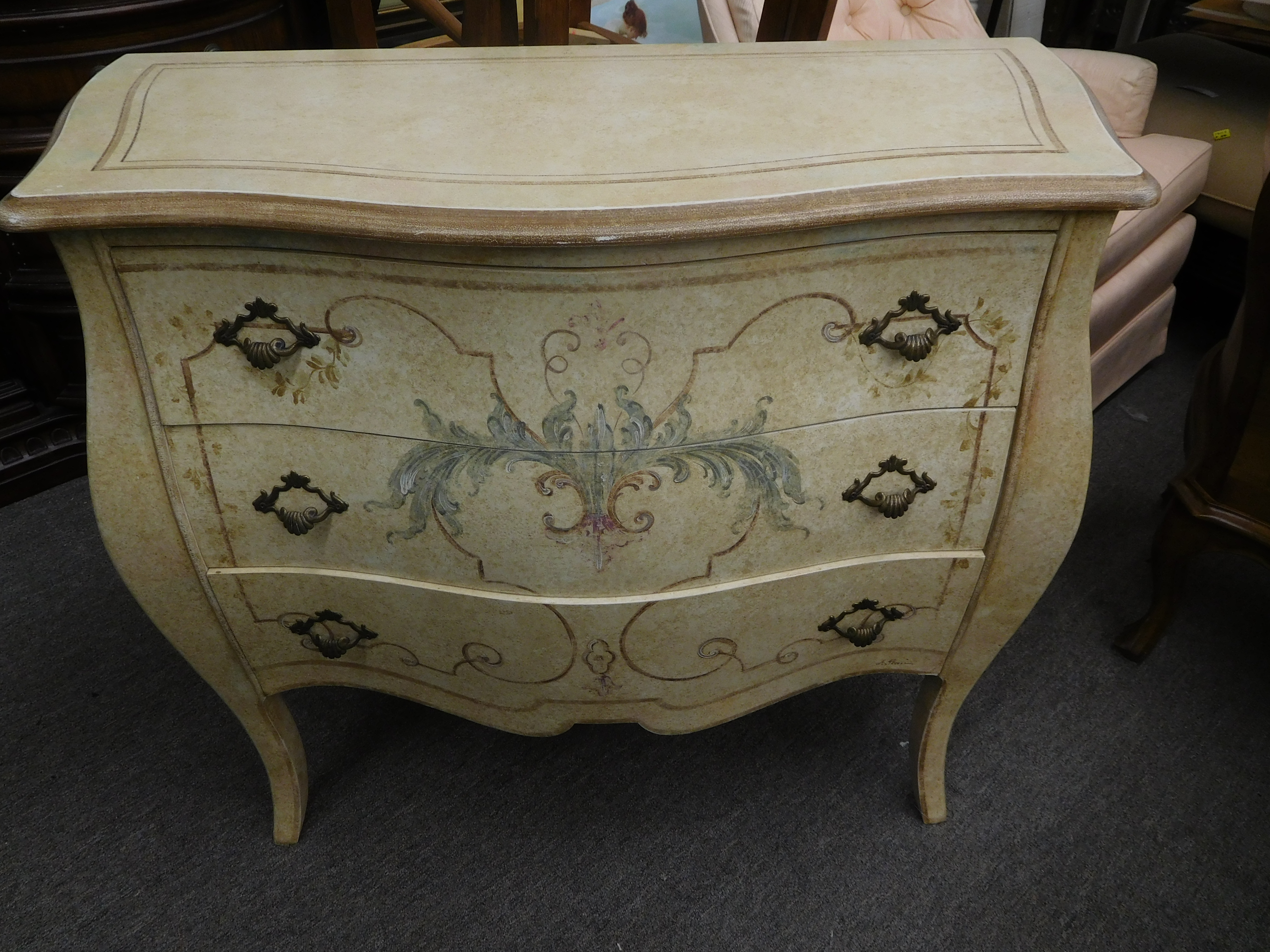 Vintage Bombay Style Night Stand by Decorative Crafts