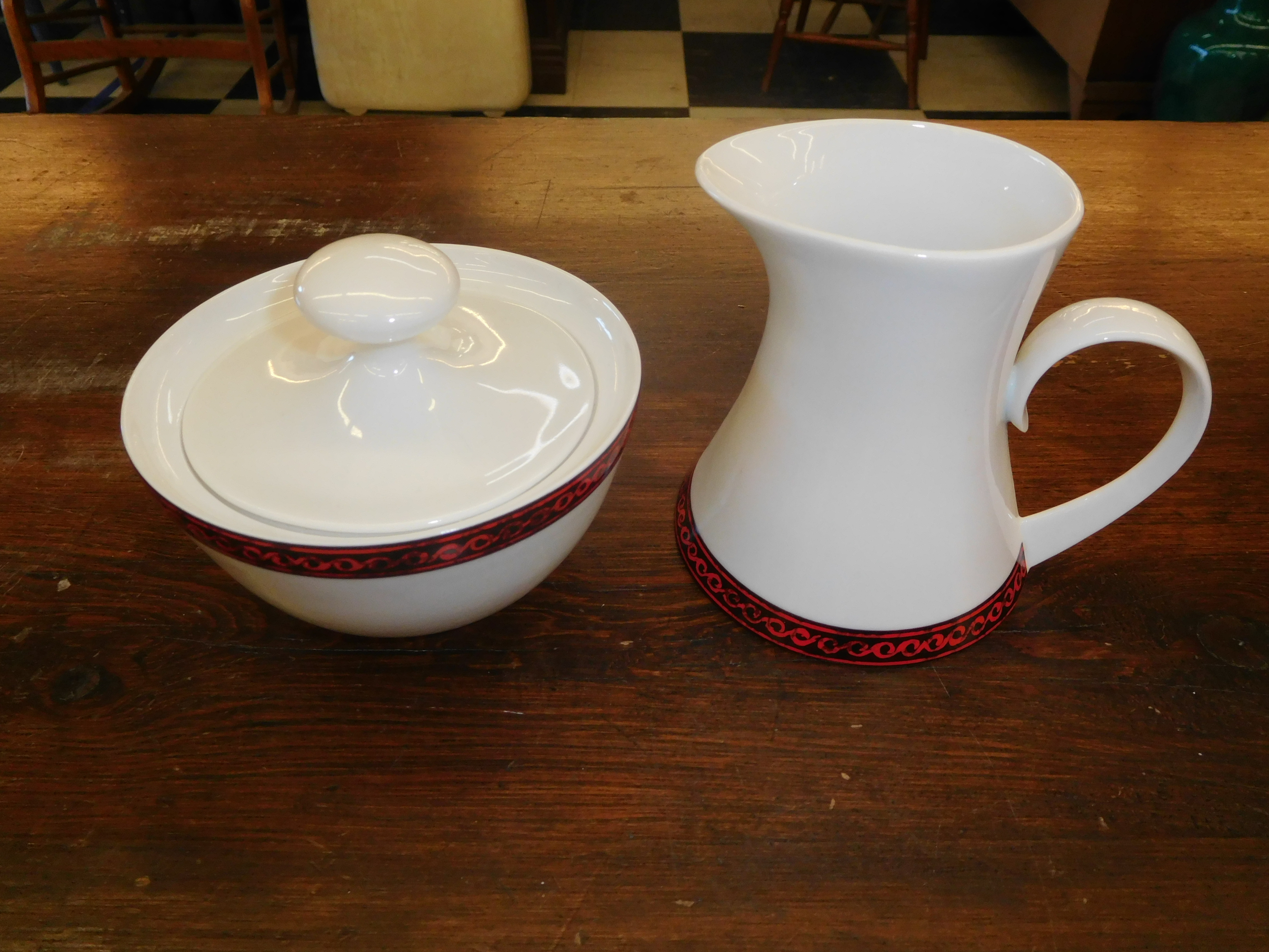 Vintage Creamer & Sugar Bowl - Block Fine Bone China