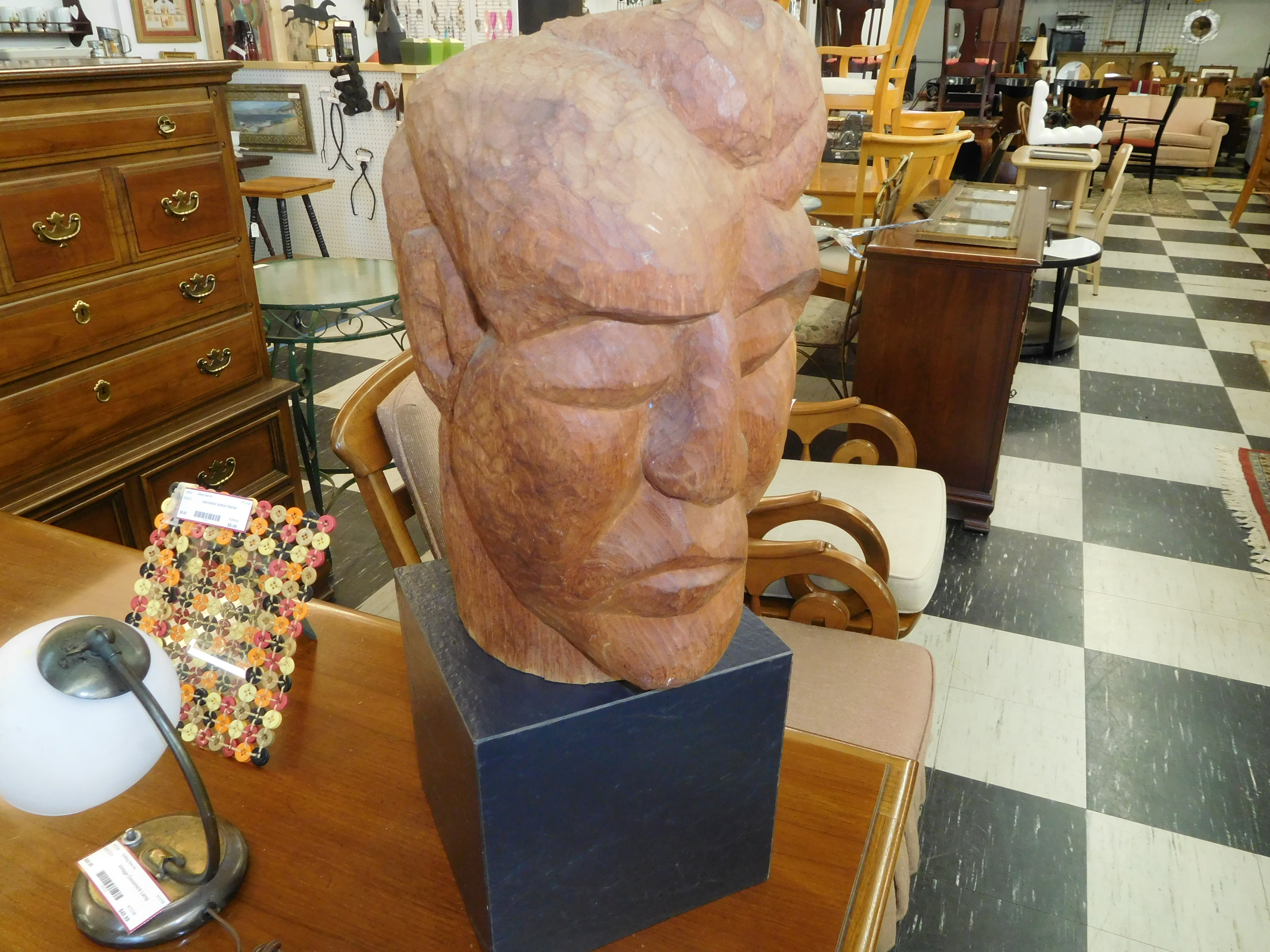 Sculpture - Wooden Head Carving
