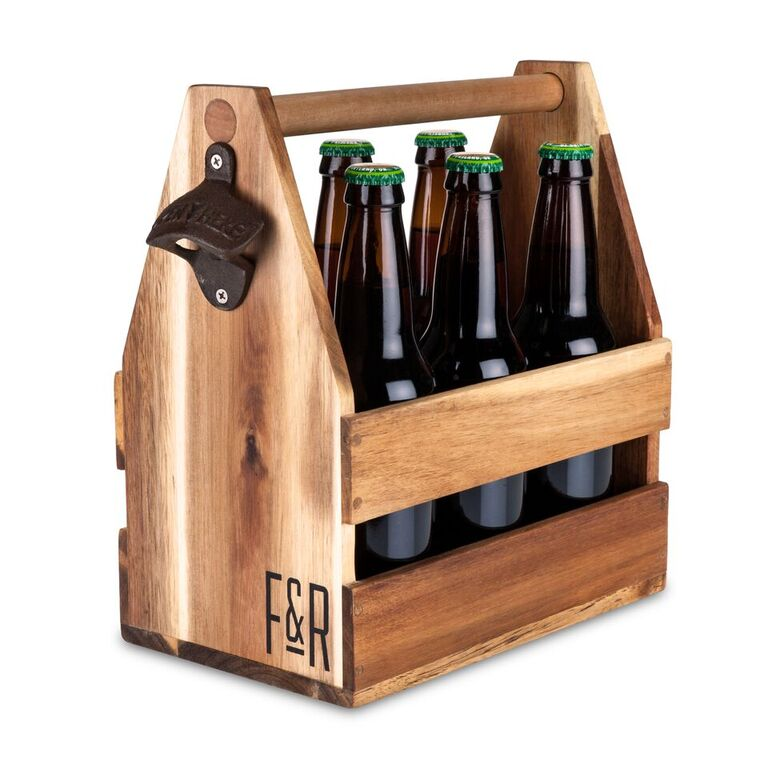 Wood Beer Caddy - From Sustainable Acacia Wood