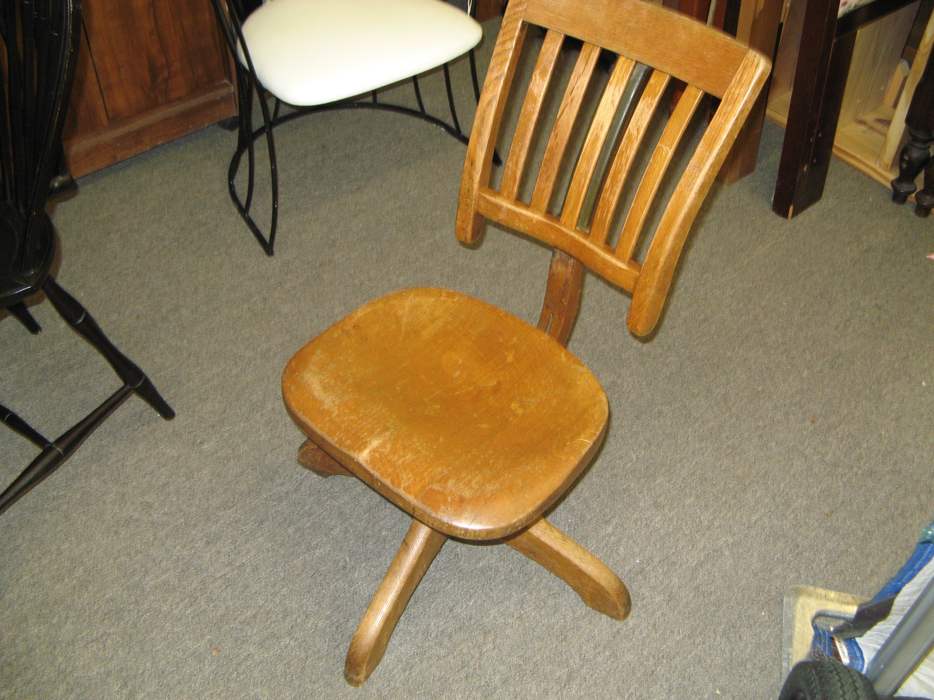 Vintage Quartersawn Oak Desk Chair