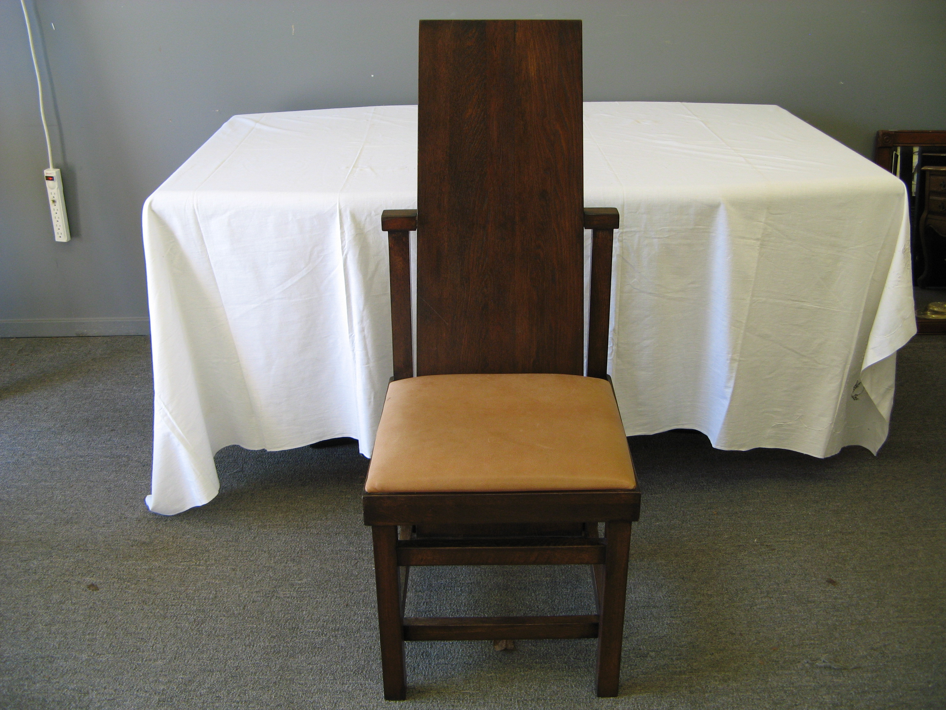 Frank Lloyd Wright Slat Back Arts and Crafts Dining Chair