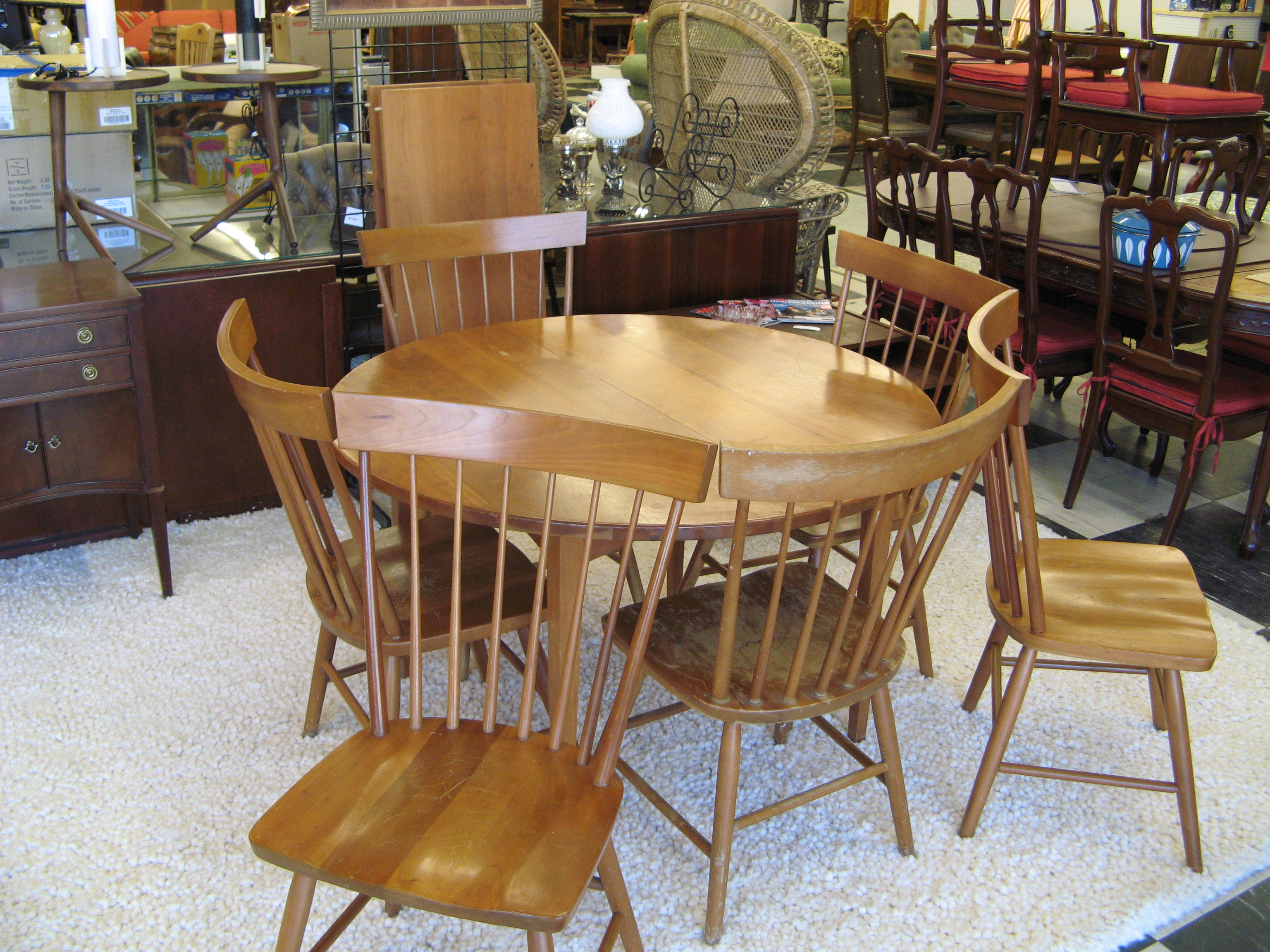 Shaker Extension Table and 6 Chairs by Cherry Pond Fine Furniture