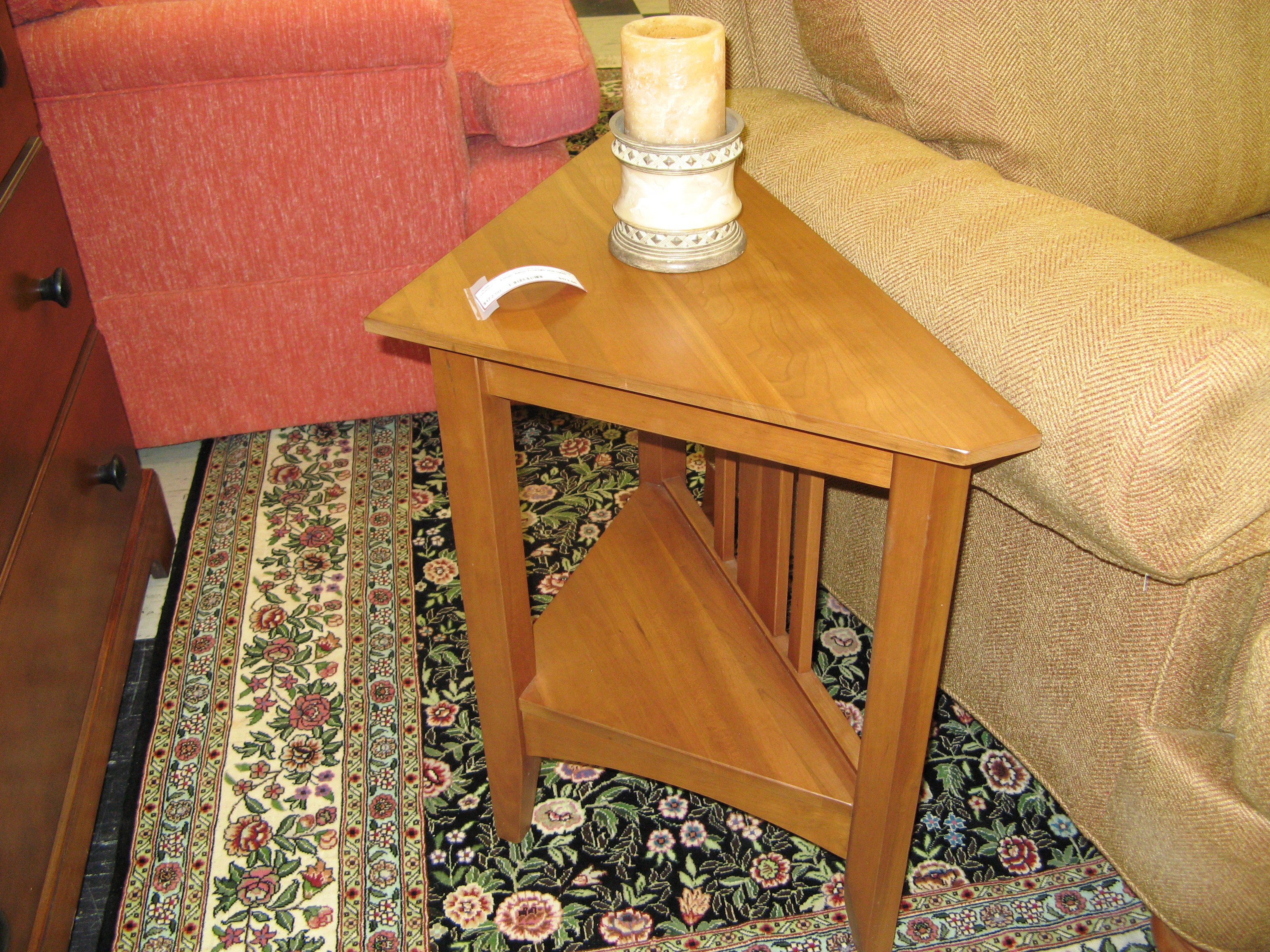 Ethan Allen Triangle End Table