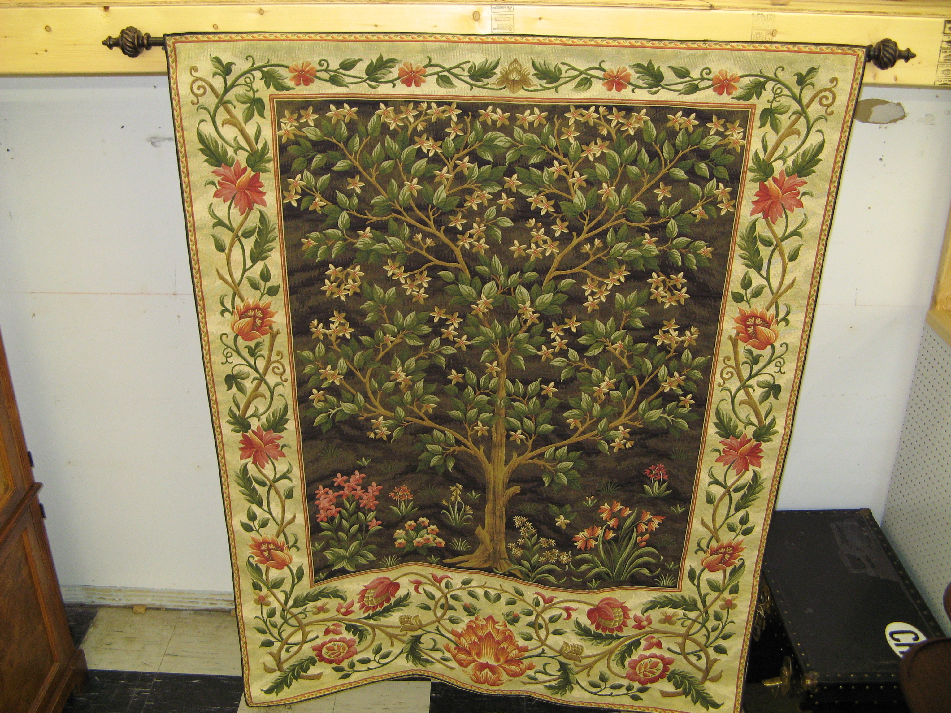 Tree of Life Floral Tapestry - Nature in Full Bloom