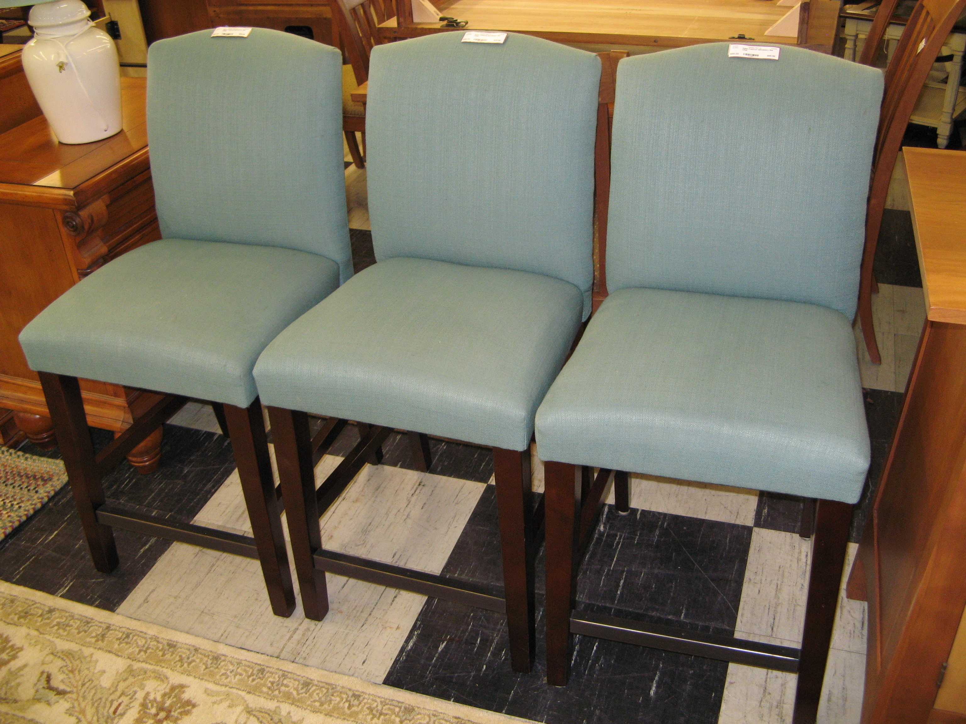 Aqua Upholstered Bar Chair