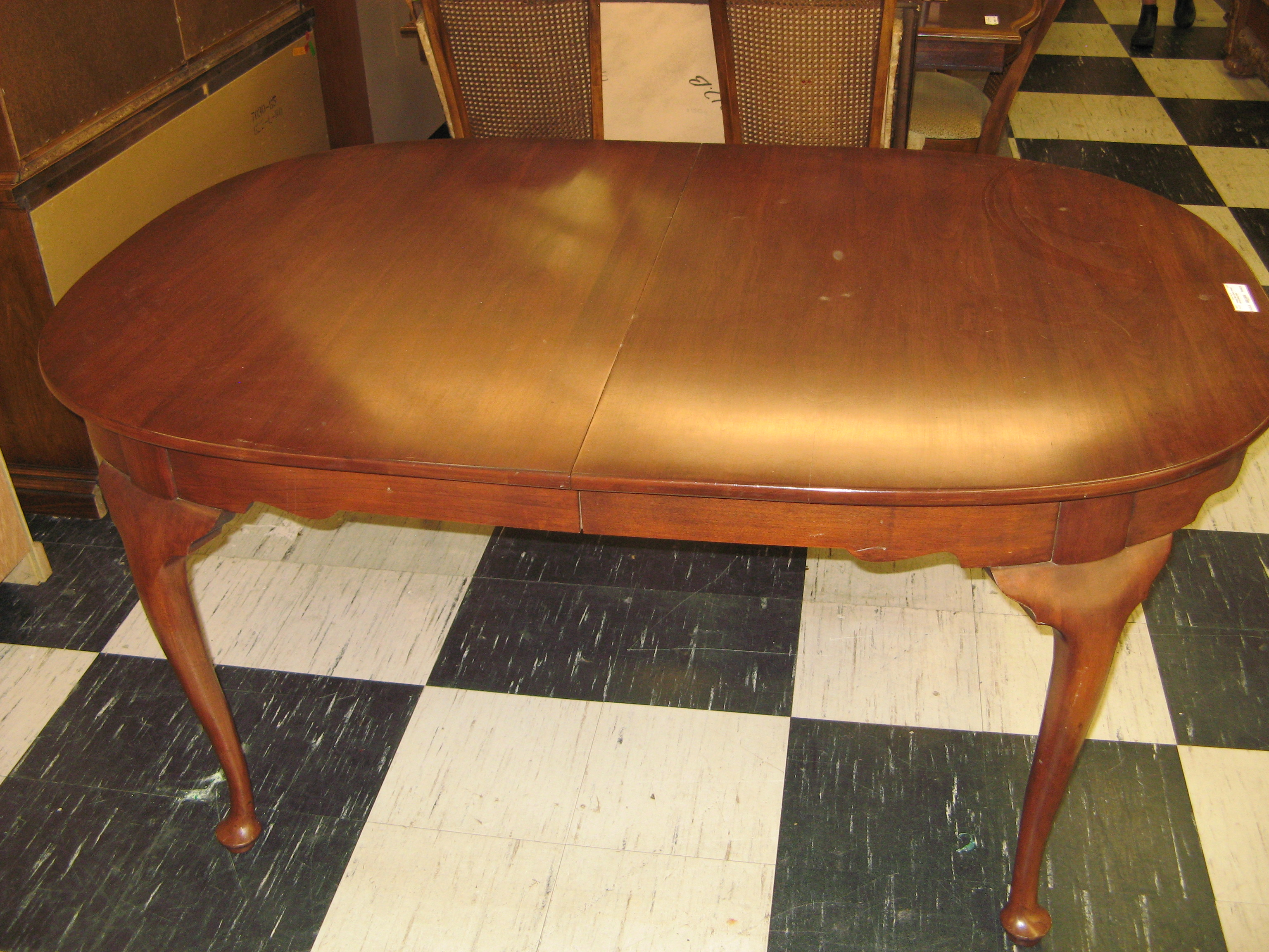Vintage Black Cherry Henkel Harris Dining Table