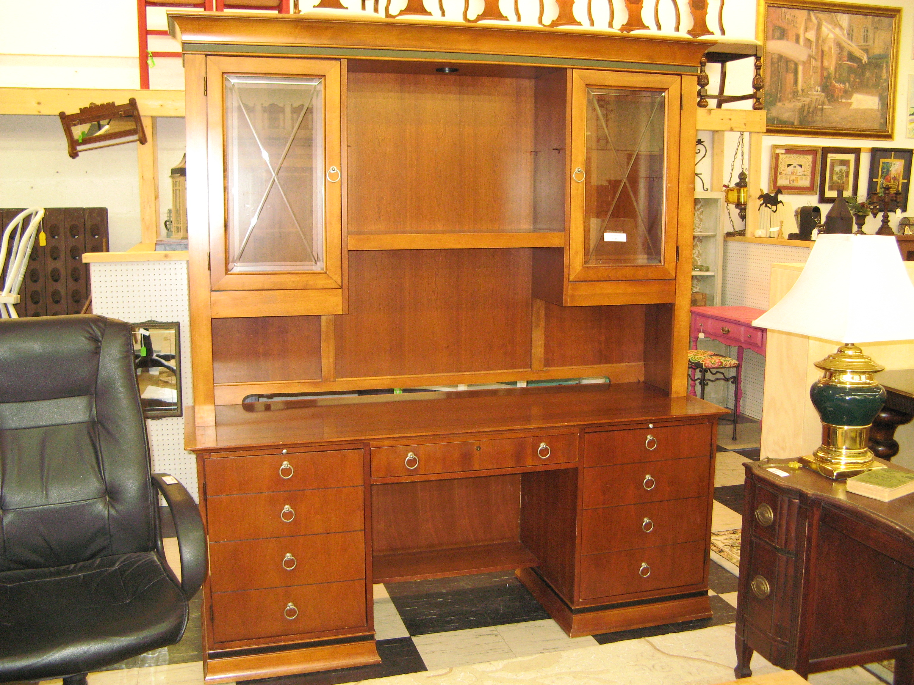Hooker Desk with Hutch