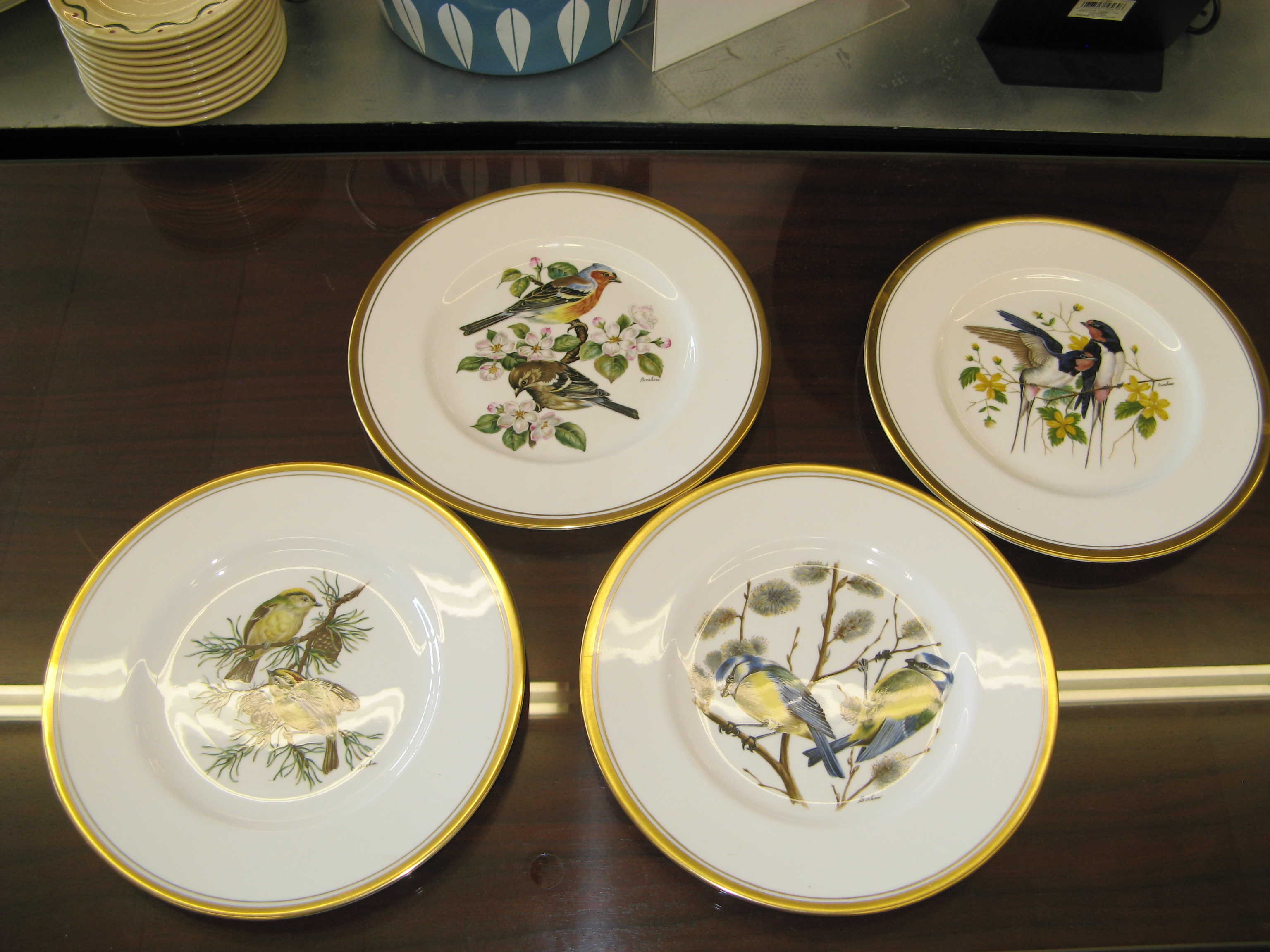 China Plate with Bird Painting