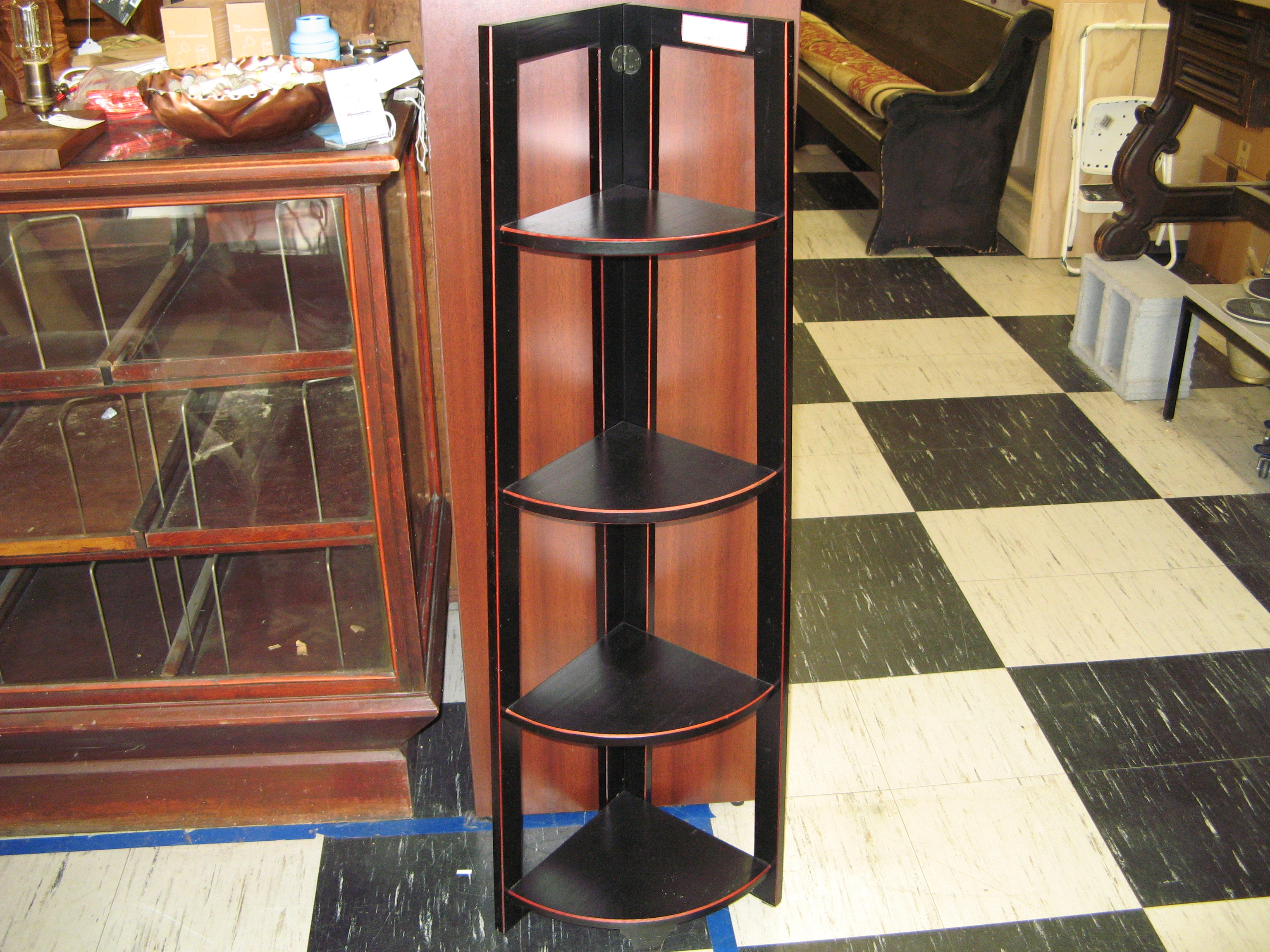 Corner Shelf Unit, Black