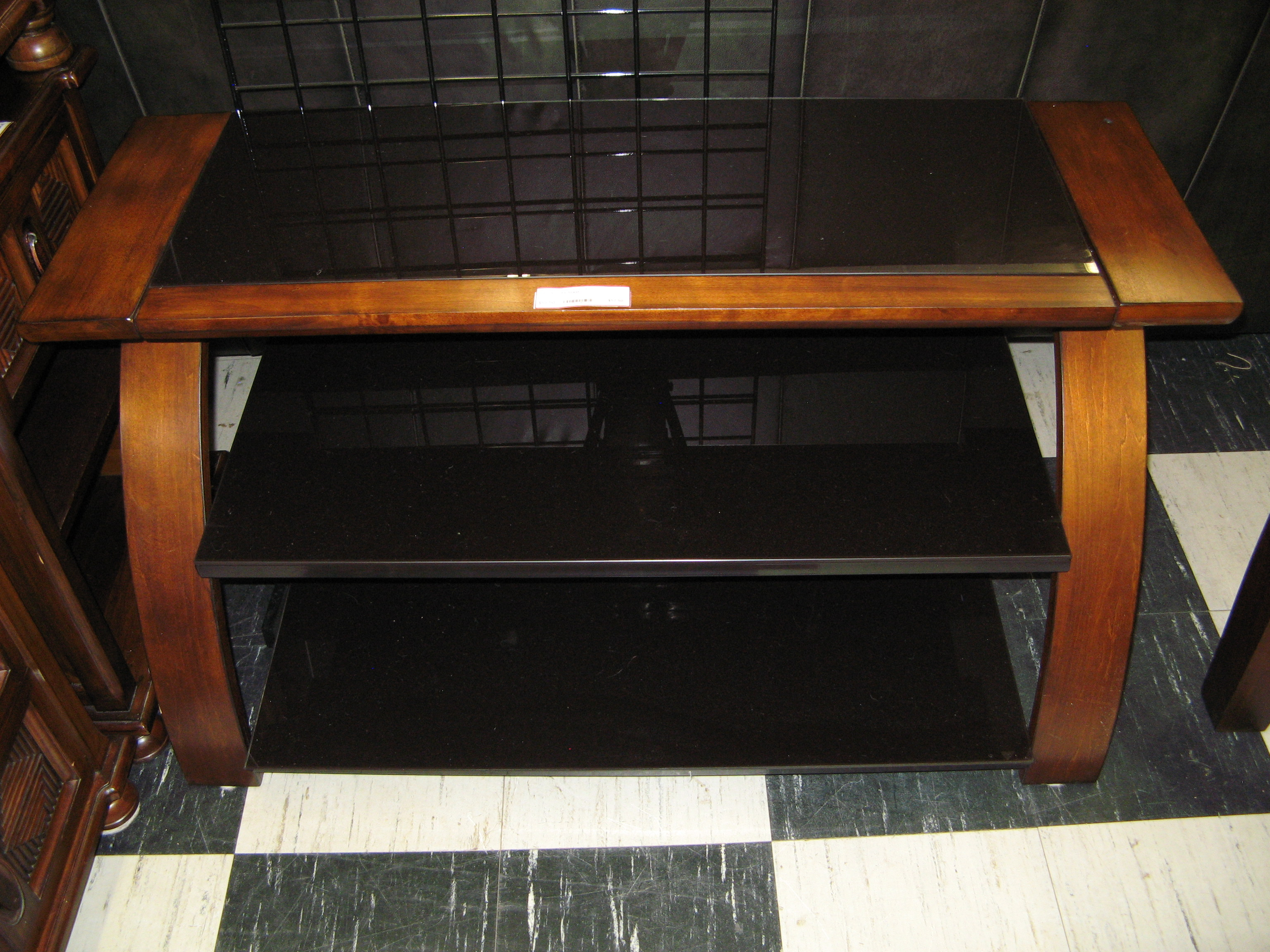 TV Stand - Modern, with Attractive Wood Frame