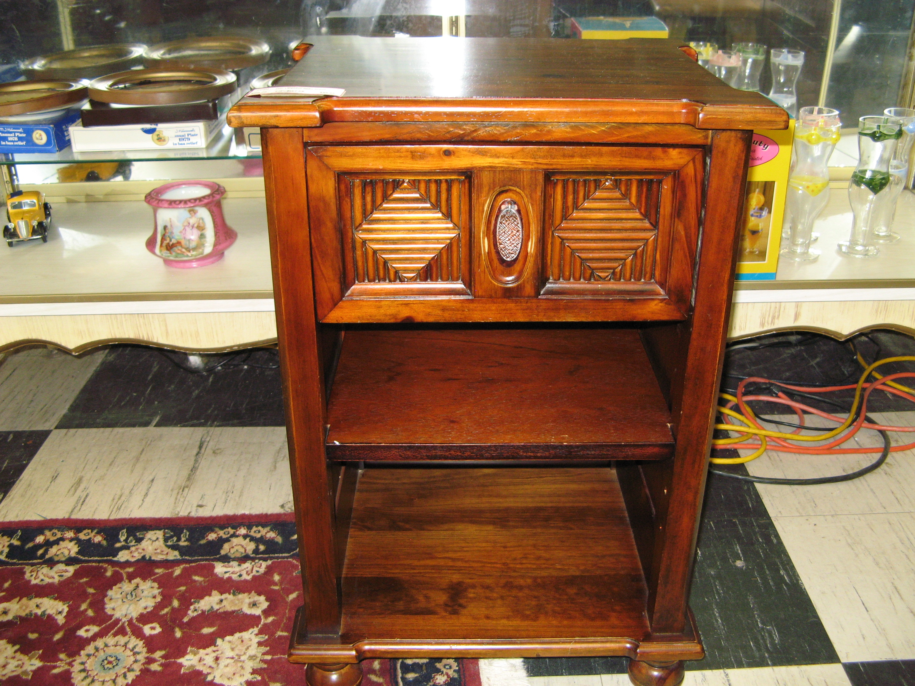 Pier 1 Imports Wood & Rattan Night Stand
