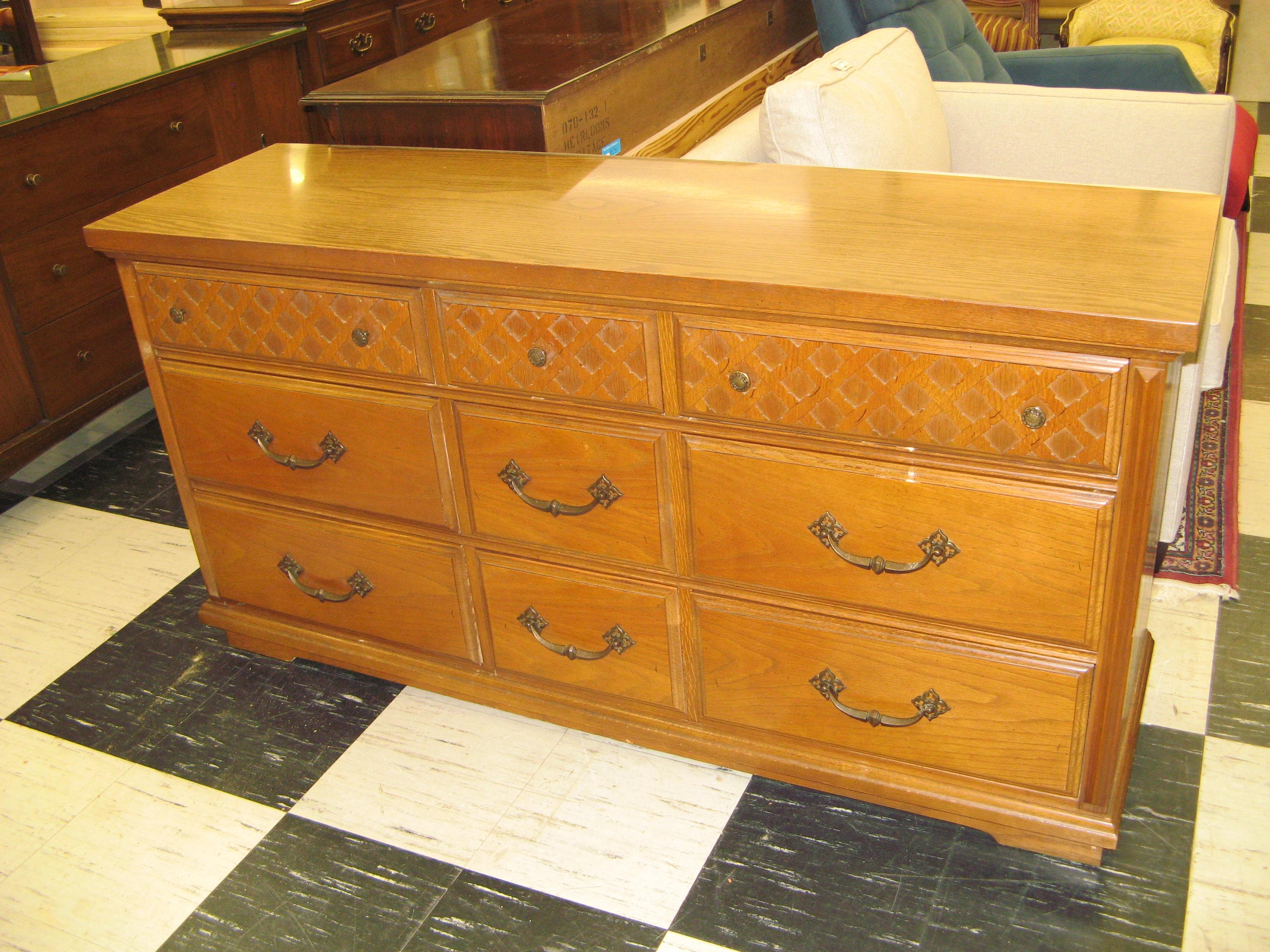 Bassett Triple Dresser with Mirror