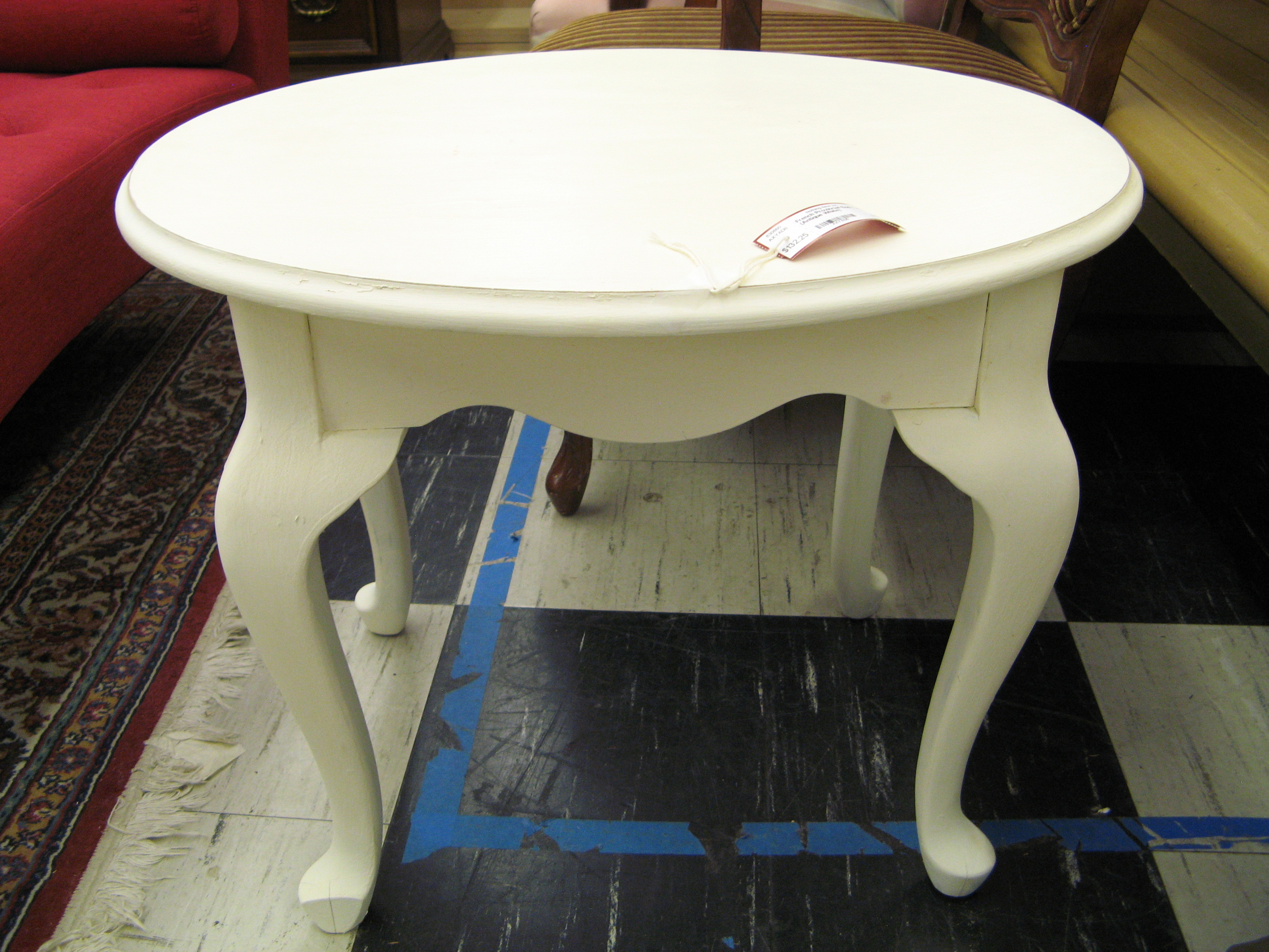 French Provincial Painted Accent Table (Antique White)