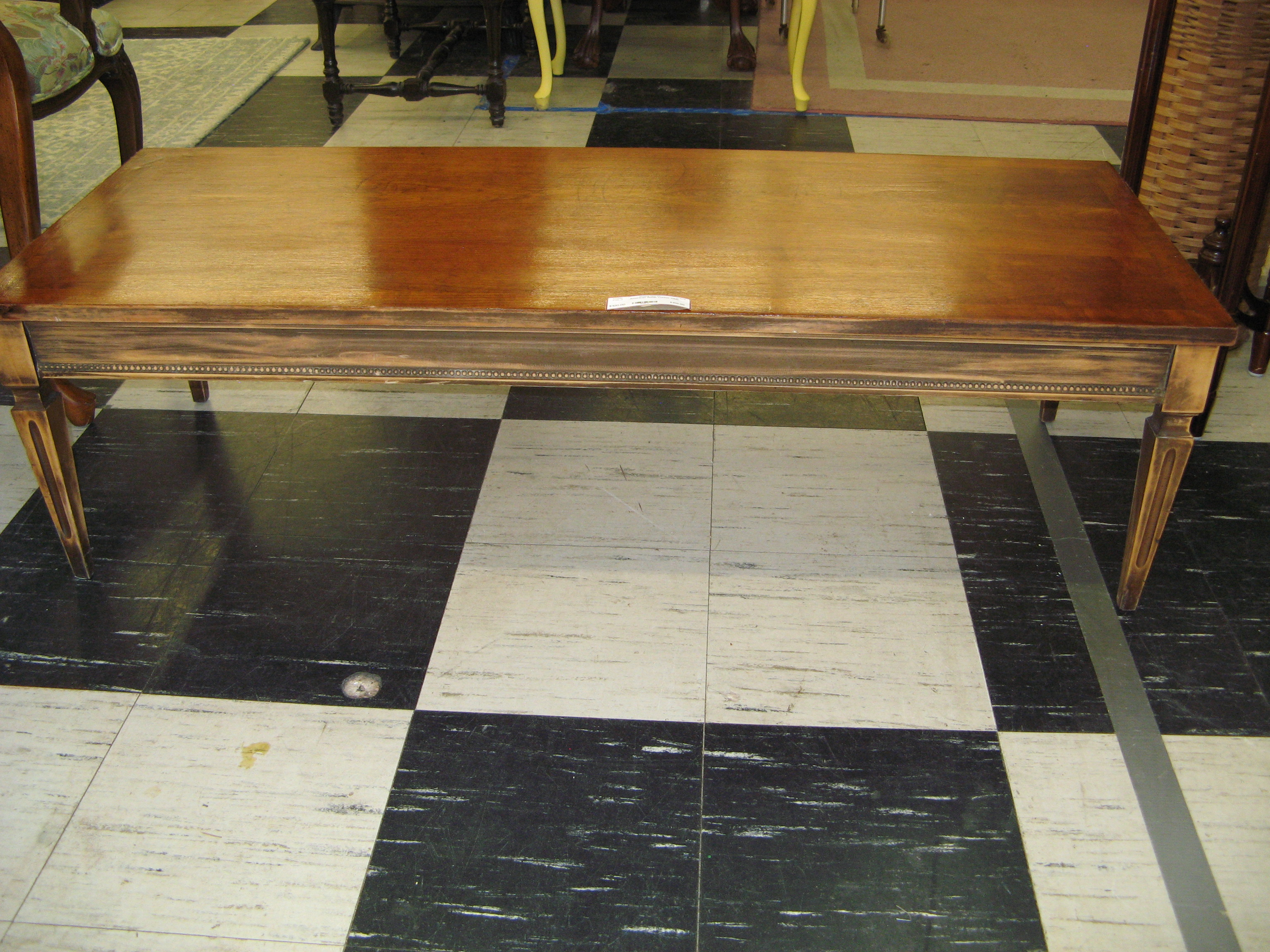 Lane Coffee Table w/ Tapered Architectural Legs