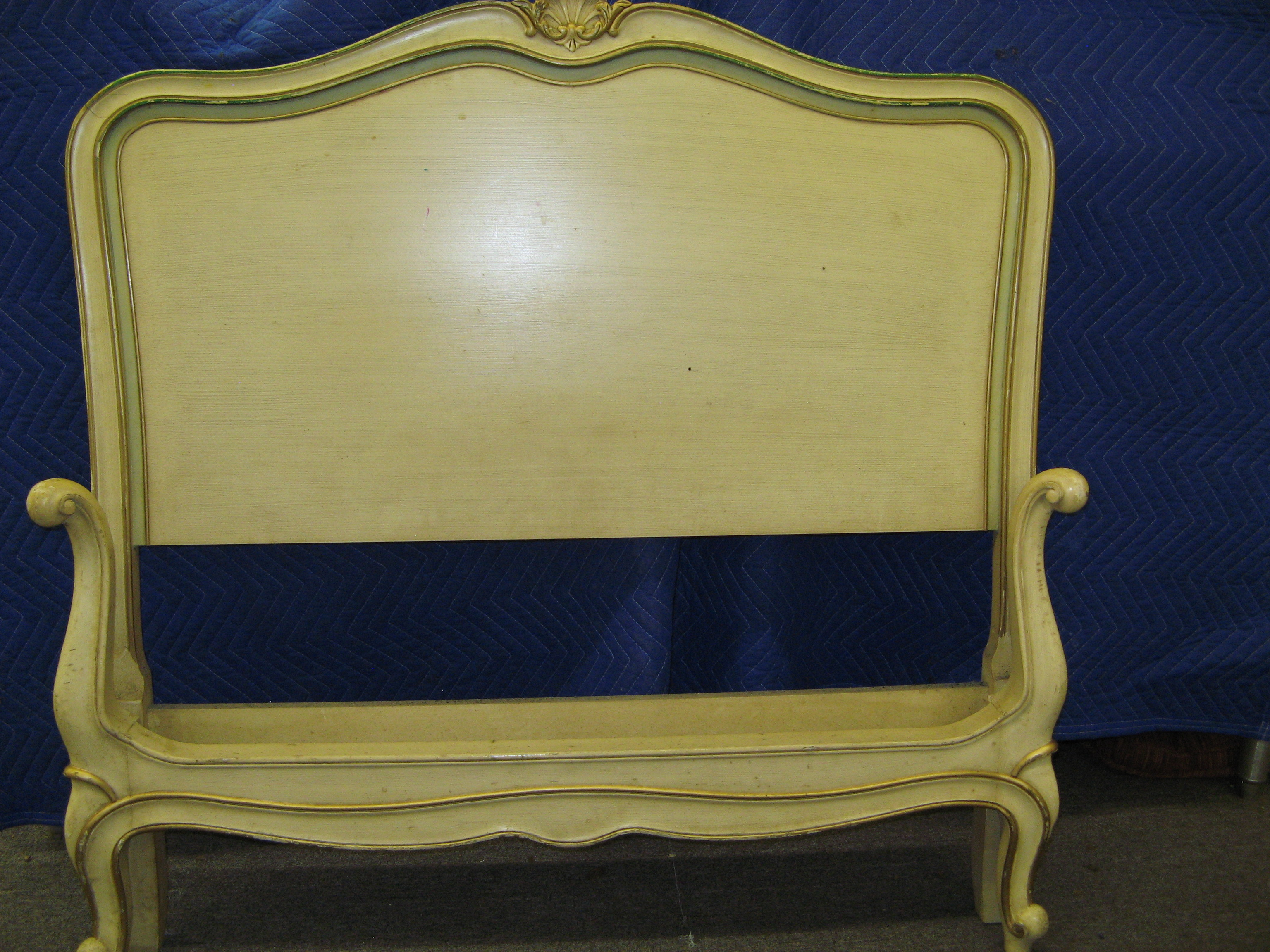 Drexel French Provincial Twin Size Bed, Cream (Headboard & Footboard Only)