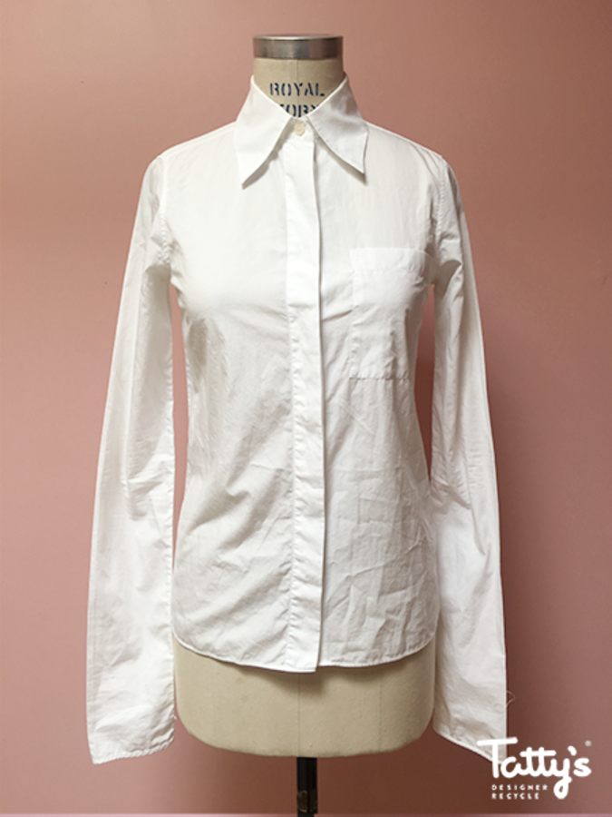 white cotton l sl b up shirt 7993a265ed39c
